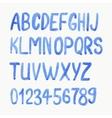 Watercolor or aquarelle blue font vector image