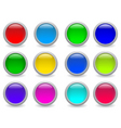 vector web buttons vector image vector image
