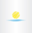 summer icon sun and sea water vector image