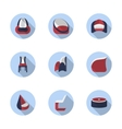 Stylish chairs flat color icons vector image