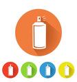 spray can symbol vector image vector image