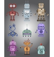 Colorful of robots vector image