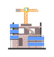 construction of a modern building vector image