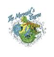 Mermaids curse vector image