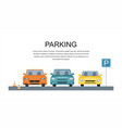 parking lot design park icon vector image
