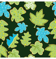Seamless retro leafs pattern vector image