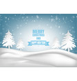 winter season with snowflake and tree vector image