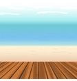 wooden floor against sea vector image