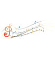 The different musical notes and symbols vector image