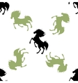 pattern with horses vector image