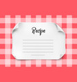 white paper sheet with curved corners for vector image