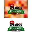 Italian pizza banner vector image vector image