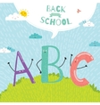 Back to School notes with smiling happy kids vector image