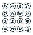 couple love icons universal set vector image
