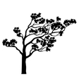 Tree sakura silhouette vector image