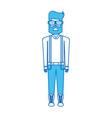 blue icon body man vector image