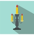 Candlestick lamp flat icon vector image