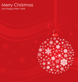 Christmas ball background vector image