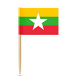 flag of myanmar flag toothpick vector image