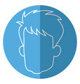 head faceless male avatar line vector image