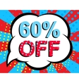 Sale poster with 60 PERCENT OFF text Advertising vector image