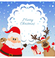 Santa Claus and reindeer background for Christmas vector image