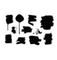 Set of black grunge brush strokes and splashes vector image