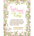 Spring time background vector image