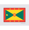 Flag of Grenada Official Flag Proportion of 2 to 3 vector image