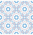 flower pattern blue boho background vector image
