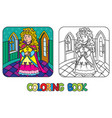 coloring book of beauty fairy queen or princess vector image