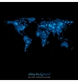 Abstract shiny lights world map vector image