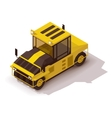 isometric pneumatic road roller vector image vector image