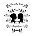 Save the Date Vintage Design vector image