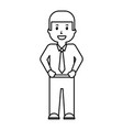 businessman worker standing character professional vector image