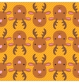 Christmas deer seamless pattern vector image