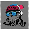 cool skull poster vector image