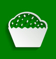 cupcake sign paper whitish icon with soft vector image