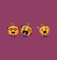 funny pumpkin character vector image