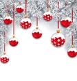 Holiday Snowing Background with Silver Fir vector image
