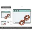 Link building line icon vector image