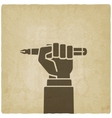 office worker hand with pen vector image