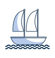 sailboat marine isolated icon vector image