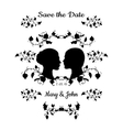 Save the Date Vintage Design vector image
