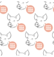 Seamless Pattern with pig vector image