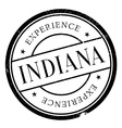 Indiana stamp rubber grunge vector image