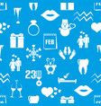 february month theme set of simple icons pattern vector image