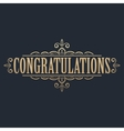 Golden congratulations card vector image