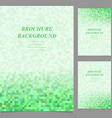 Abstract geometric page template background set vector image