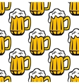 Beer tankard seamless pattern vector image